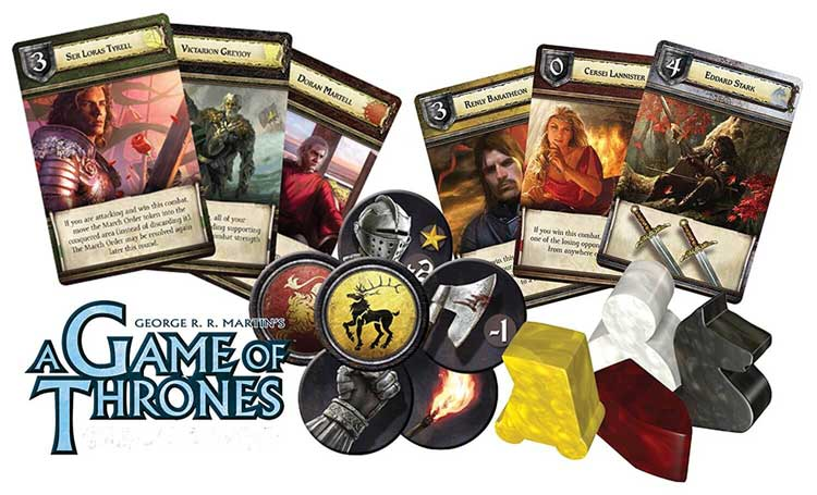 game of thrones board game characters