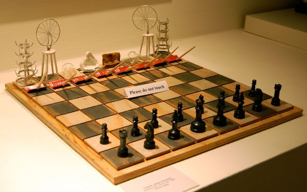 luxury chess board and pieces