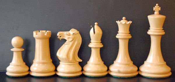 staunton chess board and pieces