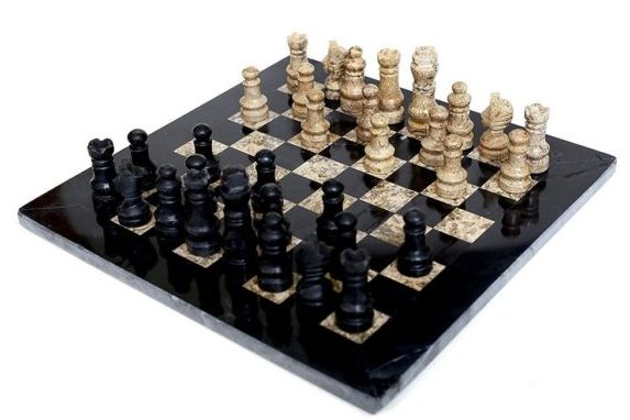 marble stone chess pieces and board from RadicalN
